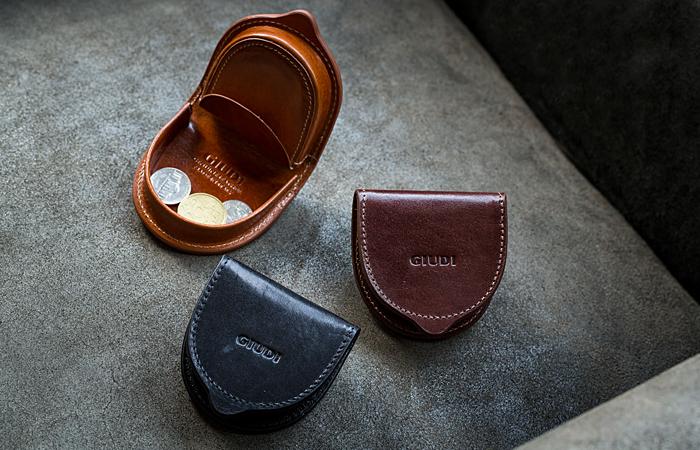 グレンチェック ジウディ(GIUDI),イタリア製ガビアーノレザーコインケース,小銭入れ,コインケース